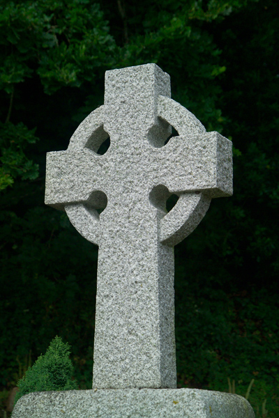 Picture of Celtic Cross, St Brelade's Parish Church , Jersey, The Channel Islands - Free Pictures - FreeFoto.com