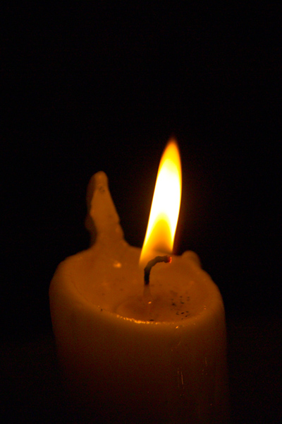 Picture of Candle, St Brelade's Parish Church , Jersey, The Channel Islands - Free Pictures - FreeFoto.com