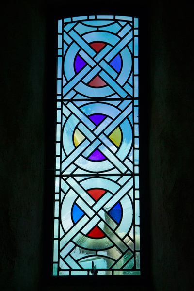Picture of Stained Glass Window, St Brelade's Parish Church , Jersey, The Channel Islands - Free Pictures - FreeFoto.com