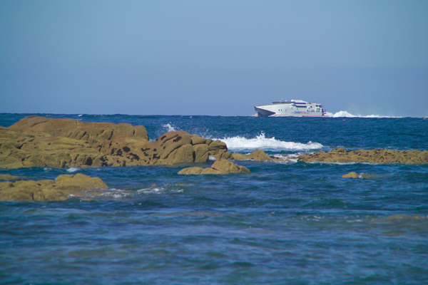 Picture of Condor Ferries Seacat, Point Corbiere, Jersey, The Channel Islands - Free Pictures - FreeFoto.com