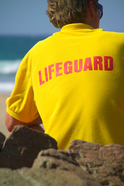 Picture of Lifeguard Plemont Bay, Jersey, The Channel Islands - Free Pictures - FreeFoto.com