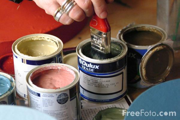 Picture of Painting and Decorating - Free Pictures - FreeFoto.com