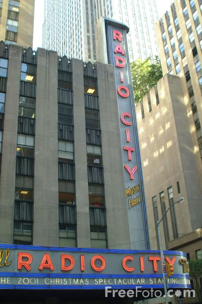 Picture of Radio City Music Hall, New York City - Free Pictures - FreeFoto.com
