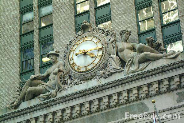 Picture of Clock, Midtown, New York City - Free Pictures - FreeFoto.com