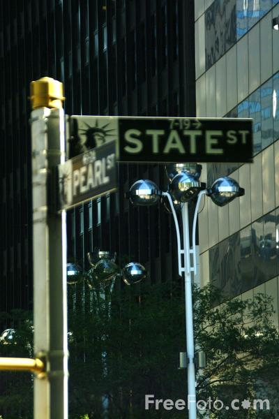 Picture of State Street, Lower Manhattan, New York City - Free Pictures - FreeFoto.com