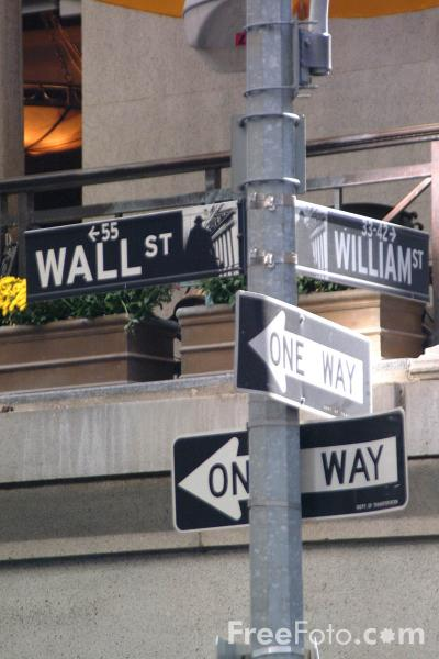 Picture of Wall Street, New York City - Free Pictures - FreeFoto.com