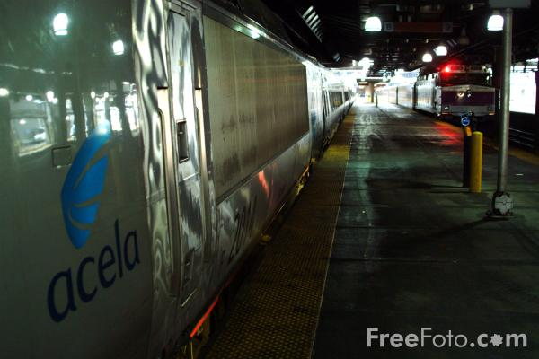 Picture of Acela Train, Boston South Station, Massachusetts - Free Pictures - FreeFoto.com