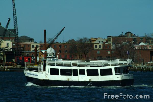 Picture of Ferry, Boston Harbor, Massachusetts - Free Pictures - FreeFoto.com