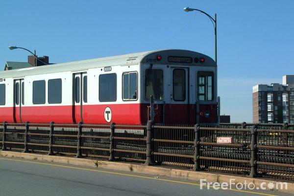 Picture of Red Line T, Boston, Massachusetts - Free Pictures - FreeFoto.com