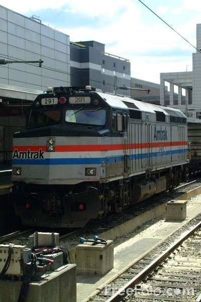 Picture of Amtrak Train, Boston South Station - Free Pictures - FreeFoto.com