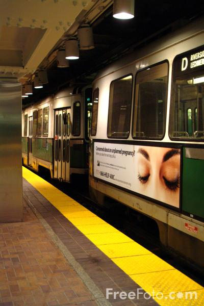 Picture of Green Line T, Boston, Massachusetts - Free Pictures - FreeFoto.com