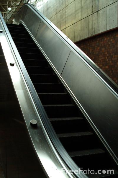 Picture of Escalator - Free Pictures - FreeFoto.com