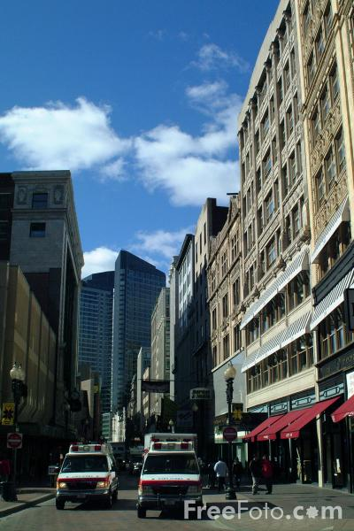Picture of Downtown Crossing, Boston, Massachusetts - Free Pictures - FreeFoto.com