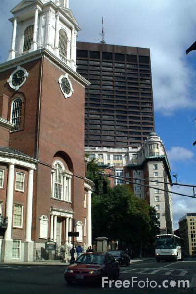 Picture of Church, Downtown Crossing, Boston, Massachusetts - Free Pictures - FreeFoto.com
