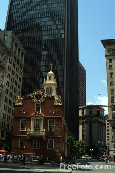 Picture of The Old State House, Boston, Massachusetts - Free Pictures - FreeFoto.com