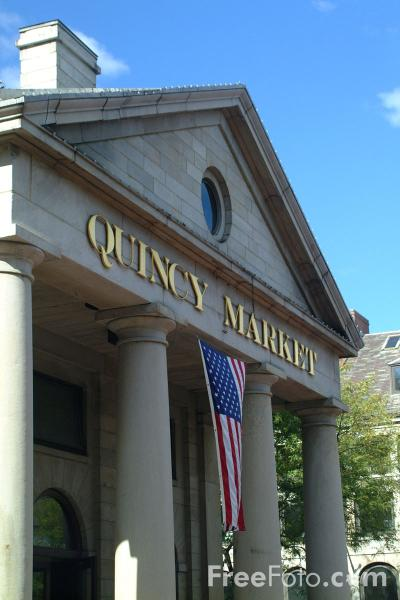 Picture of Quincy Market, Boston, Massachusetts - Free Pictures - FreeFoto.com