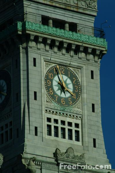 Picture of The Customs House Clock Tower, Boston, Massachusetts - Free Pictures - FreeFoto.com