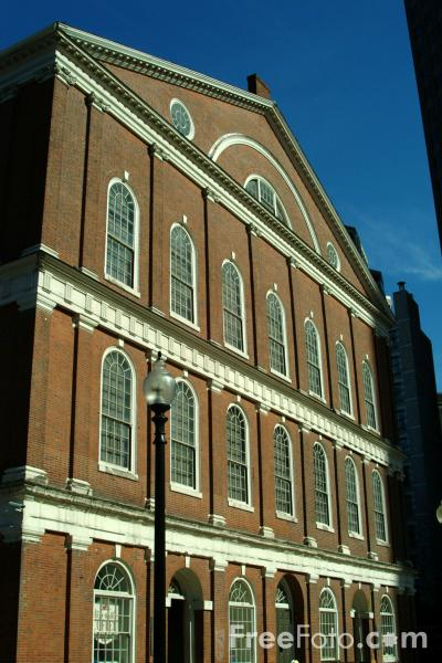 Picture of Faneuil Hall, Boston, Massachusetts - Free Pictures - FreeFoto.com