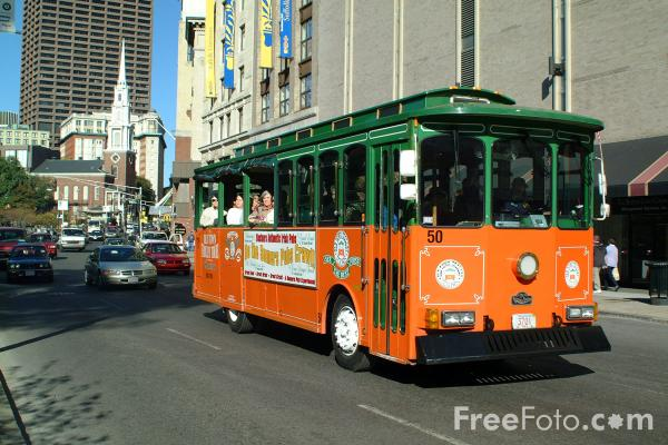 Picture of Old Town Trolley Tours, Boston, Massachusetts - Free Pictures - FreeFoto.com