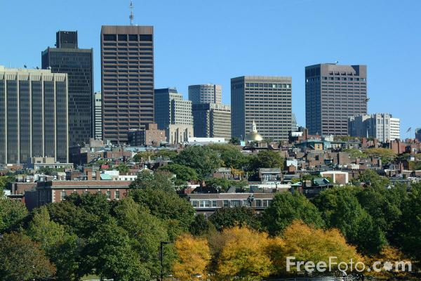Picture of Boston Skyline, Boston, Massachusetts - Free Pictures - FreeFoto.com