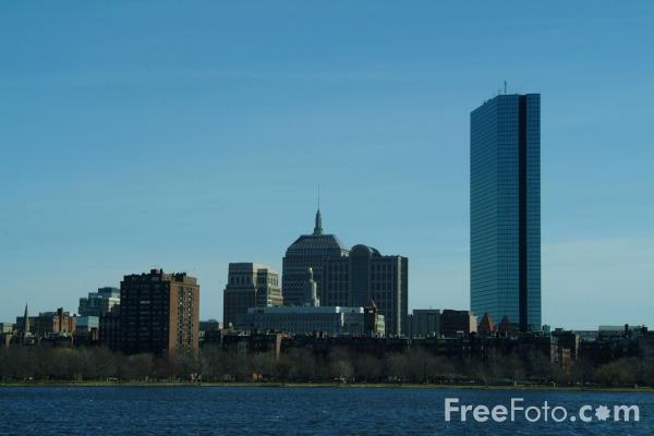 Picture of Boston Skyline, Charles River, Boston, Massachusetts, USA - Free Pictures - FreeFoto.com