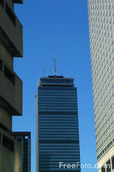 Picture of 52 story Prudential Tower, Back Bay, Boston, Massachusetts - Free Pictures - FreeFoto.com
