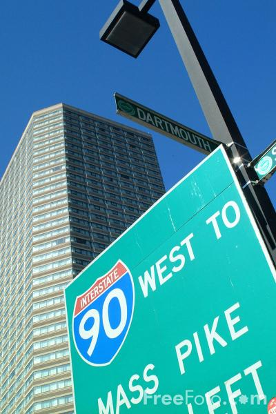 Picture of I90 Mass Pike, Back Bay, Boston, Massachusetts - Free Pictures - FreeFoto.com