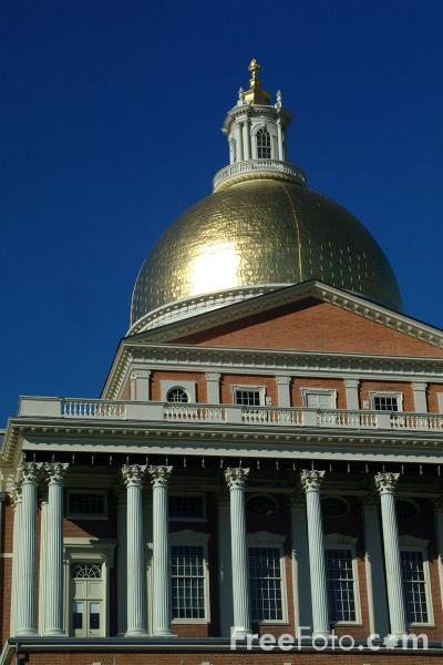 Picture of The State House, Boston, Massachusetts - Free Pictures - FreeFoto.com