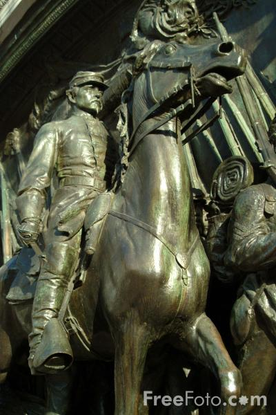 Picture of The Robert Gould Shaw Memorial, Boston, Massachusetts - Free Pictures - FreeFoto.com