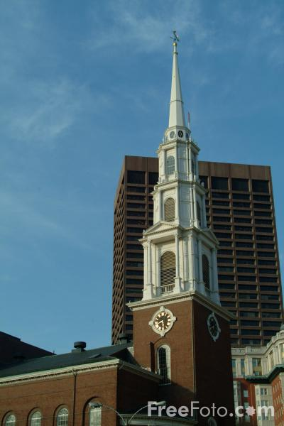 Picture of Park Street Church, Boston, Massachusetts - Free Pictures - FreeFoto.com