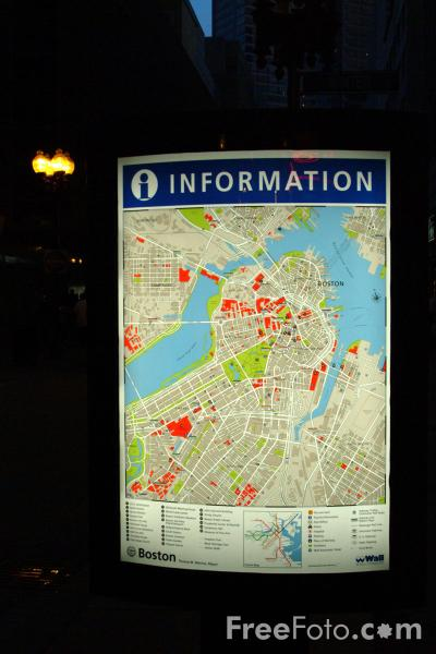 Picture of Map, Boston Common, Boston, Massachusetts - Free Pictures - FreeFoto.com