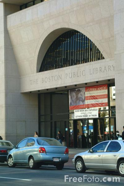 Picture of The Boston Public Library, Boston, Massachusetts - Free Pictures - FreeFoto.com