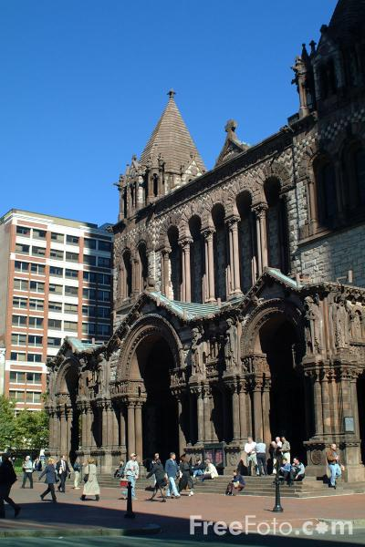 Picture of Trinity Church, Copley Square, Boston, Massachusetts - Free Pictures - FreeFoto.com