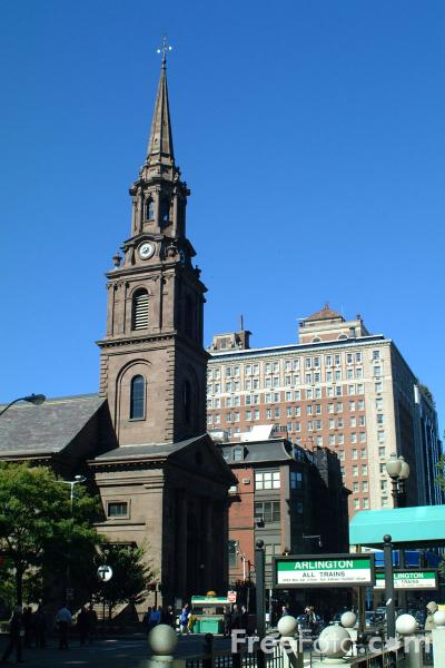 Picture of Arlington Street Church, Boston, Massachusetts - Free Pictures - FreeFoto.com