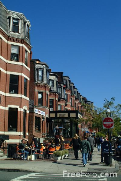 Picture of Newbury Street, Boston, Massachusetts - Free Pictures - FreeFoto.com