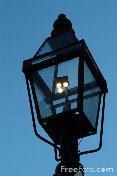 Picture of Gas Light, Beacon Hill, Boston, Massachusetts - Free Pictures - FreeFoto.com