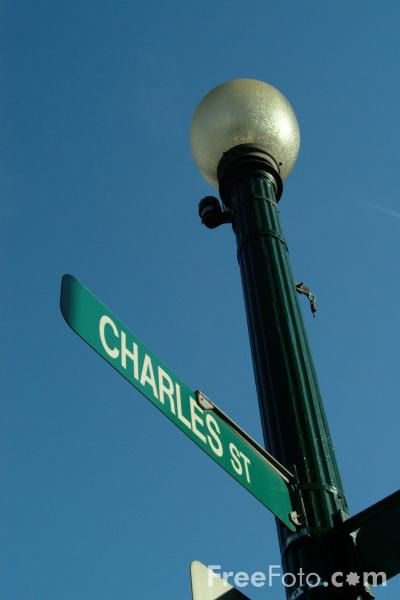 Picture of Charles Street, Beacon Hill, Boston, Massachusetts - Free Pictures - FreeFoto.com