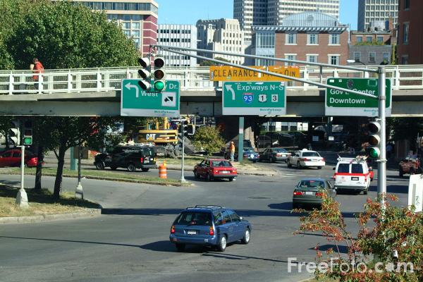 Picture of Road Junction, Boston, Massachusetts - Free Pictures - FreeFoto.com