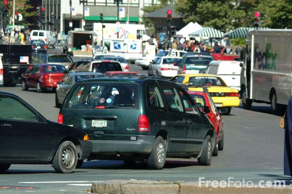 Picture of Traffic Jam, Boston, Massachusetts - Free Pictures - FreeFoto.com