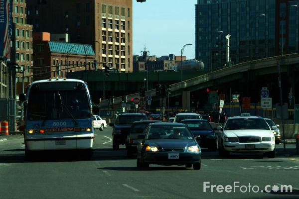 Picture of Traffic, Atlantic Avenue, Boston, Massachusetts - Free Pictures - FreeFoto.com