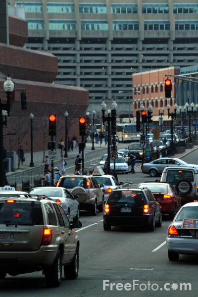 Picture of Traffic, Congress Street, Boston, Massachusetts - Free Pictures - FreeFoto.com