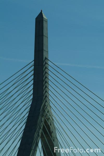 Picture of New Charles River Bridge, Boston, Massachusetts - Free Pictures - FreeFoto.com