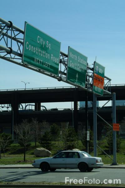 Picture of Road Signs, Rutherford Avenue, Boston, Massachusetts - Free Pictures - FreeFoto.com