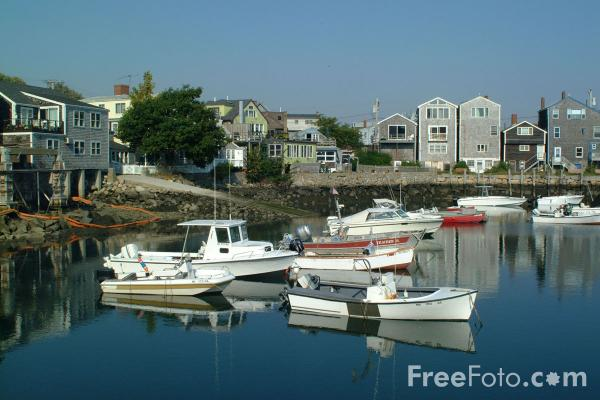 Picture of Rockport Harbour, Massachusetts - Free Pictures - FreeFoto.com