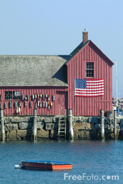 Picture of Motif #1, Bradley Wharf, Rockport, Massachusetts - Free Pictures - FreeFoto.com