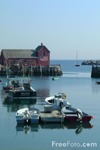 Picture of The classic Motif #1 at Rockport, Massachusetts - Free Pictures - FreeFoto.com