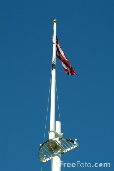Picture of Flag, Battle Green, Lexington, Massachusetts, USA - Free Pictures - FreeFoto.com
