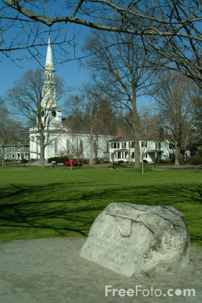 Picture of The Battle Green, Lexington, Massachusetts, USA - Free Pictures - FreeFoto.com