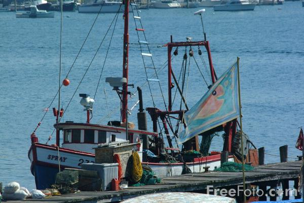 Picture of Fishing Boat. Gloucester Harbor, Massachusetts - Free Pictures - FreeFoto.com
