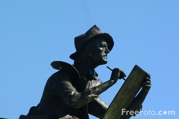 Picture of Fitz Hugh Lane Sculpture, Gloucester, Massachusetts - Free Pictures - FreeFoto.com